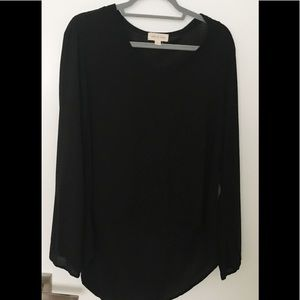 Cloth & stone long sleeve high low top, small
